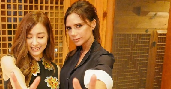 #Flashback - SNSD Girl's Generation Tiffany hanging out with former Spice Girl member Victoria Beckham 3